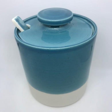 Hand Thrown Porcelain Marmalade/Mustard  Pot- Assorted Colours
