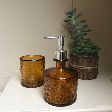 'Nihon' Recycled Glass Bathroom Set - Amber