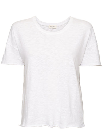 American Vintage Sonoma Fitted Cotton Tee - White