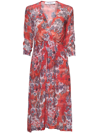 Gramy Printed Dress - Red