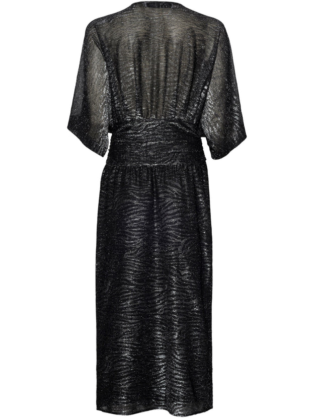 Volsun Lurex Dress - Black