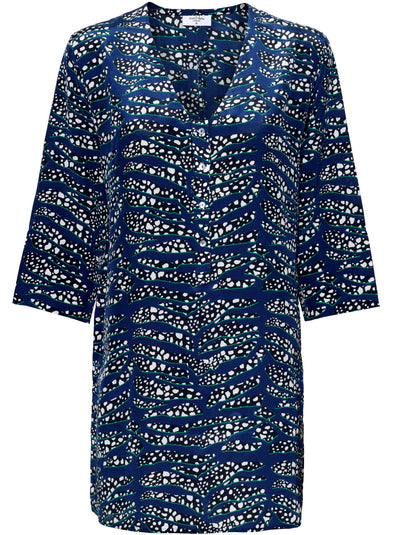 Lambton Tiger Shark Silk Tunic Dress - Sea