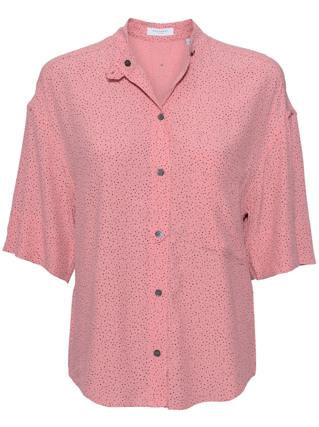 Drace Printed Silk Shirt - Abricot Rose