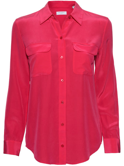 Slim Signature Silk Shirt - Impala Lily