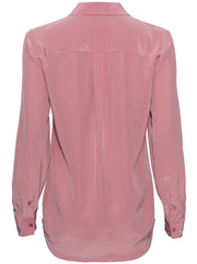 Slim Signature Silk Shirt - Mesa Rose