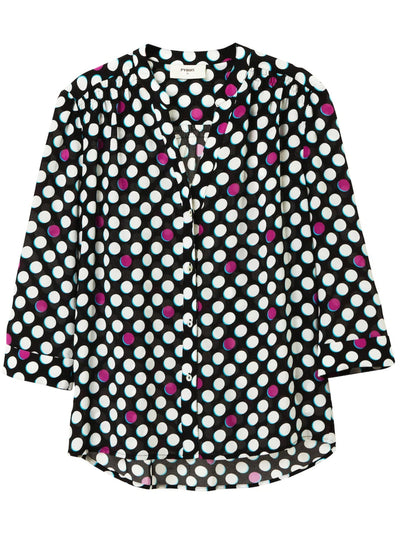 Ava Silk Blouse - Dots
