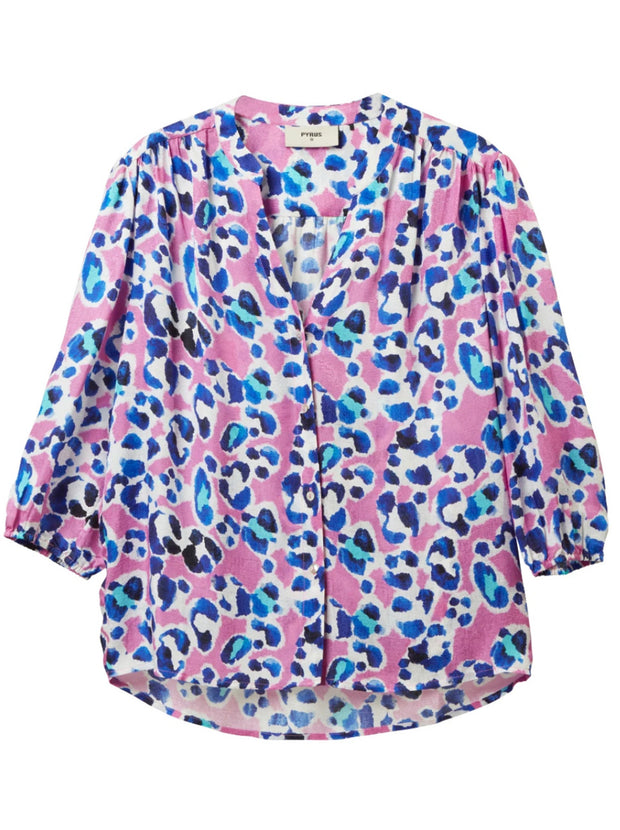 Solace Silk-blend Blouse - Painted Animal