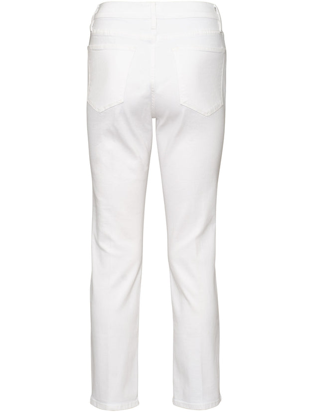 Le High Straight Slim-Fit Jean - Blanc