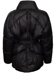 Recycled Wrap Puffer Jacket - Noir