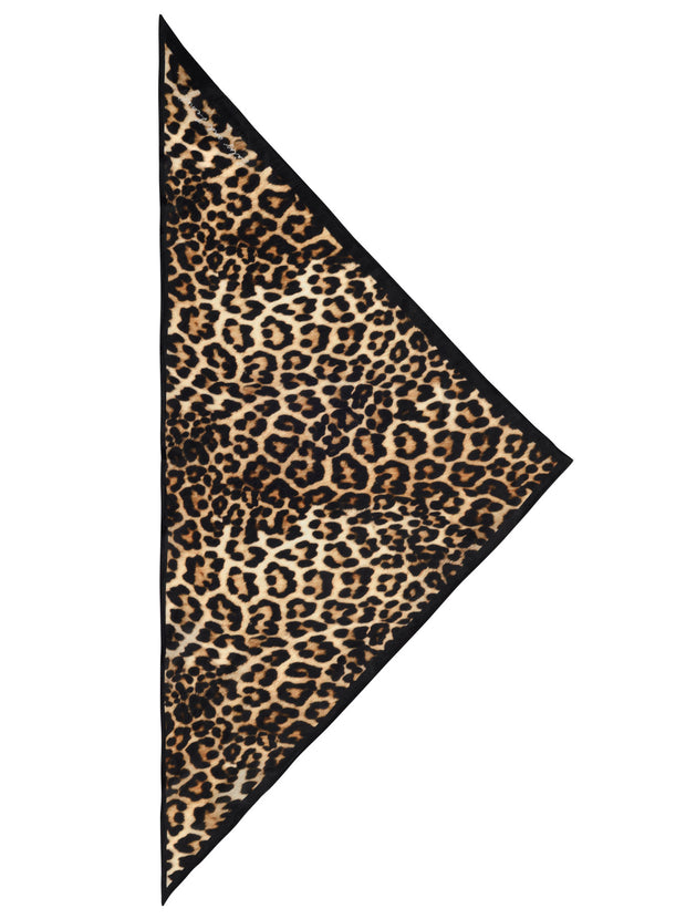 Wild Cat Silk Neck-Tie Scarf