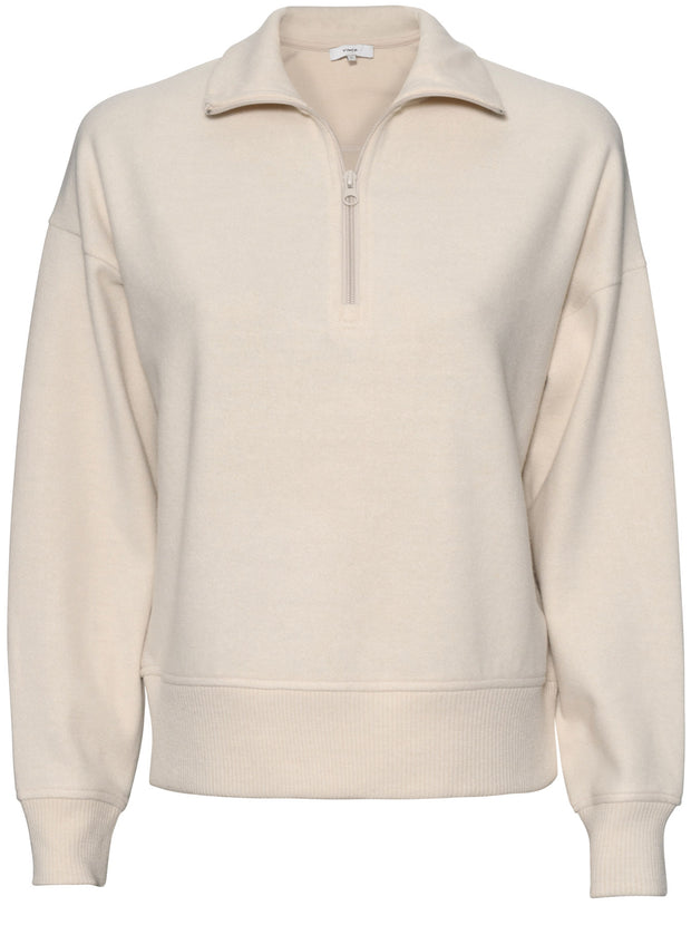 Cozy Half Zip Sweater - Oyster