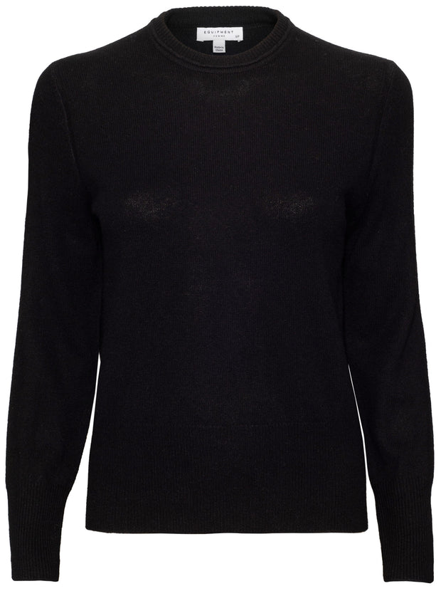 Sanni Crew Neck Cashmere Sweater - True Black