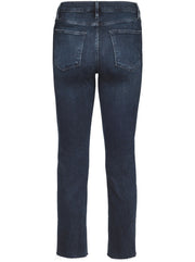 Le High Straight Slim-Leg Raw Edge Jean - Seaway