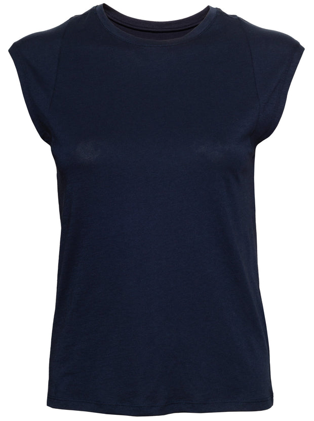 Le Mid-Rise Muscle Tee - Navy