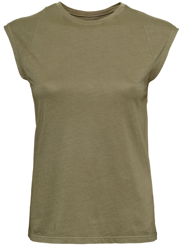 Le Mid-Rise Muscle Tee - Washed Military