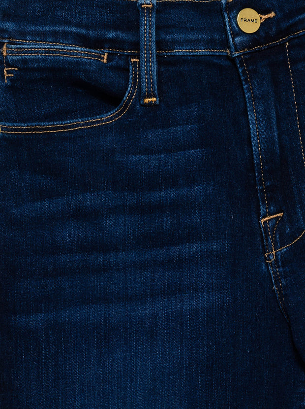 Le High Straight Released Stagger Jeans - Cobbert