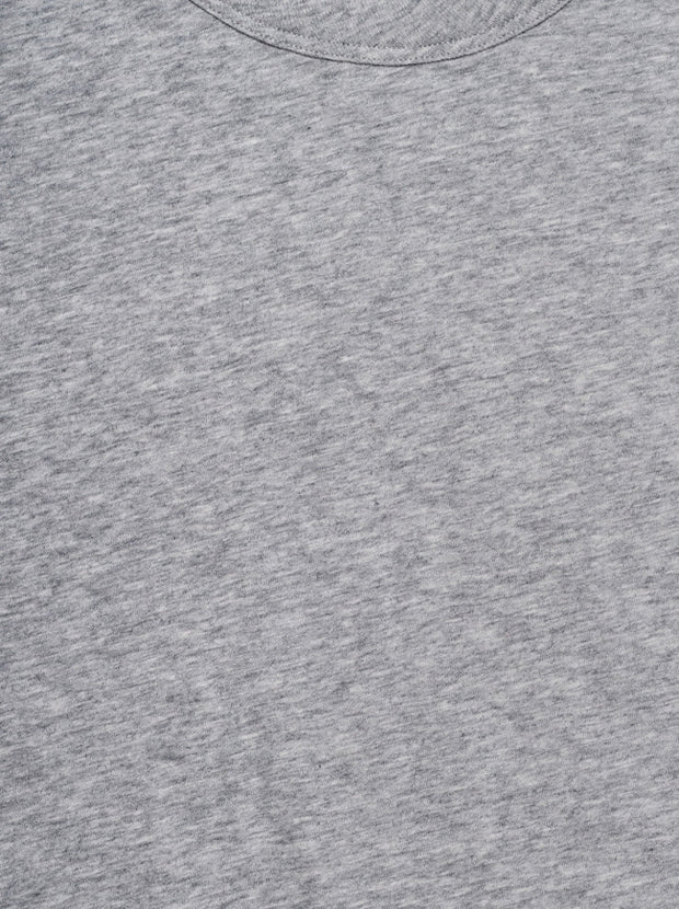 The Crew Neck Short Sleeve Cotton Tee - Heather Grey
