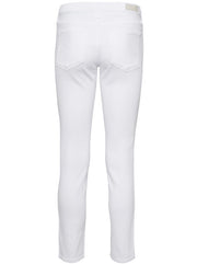 The Prima Ankle Mid-Rise Slim Leg - White