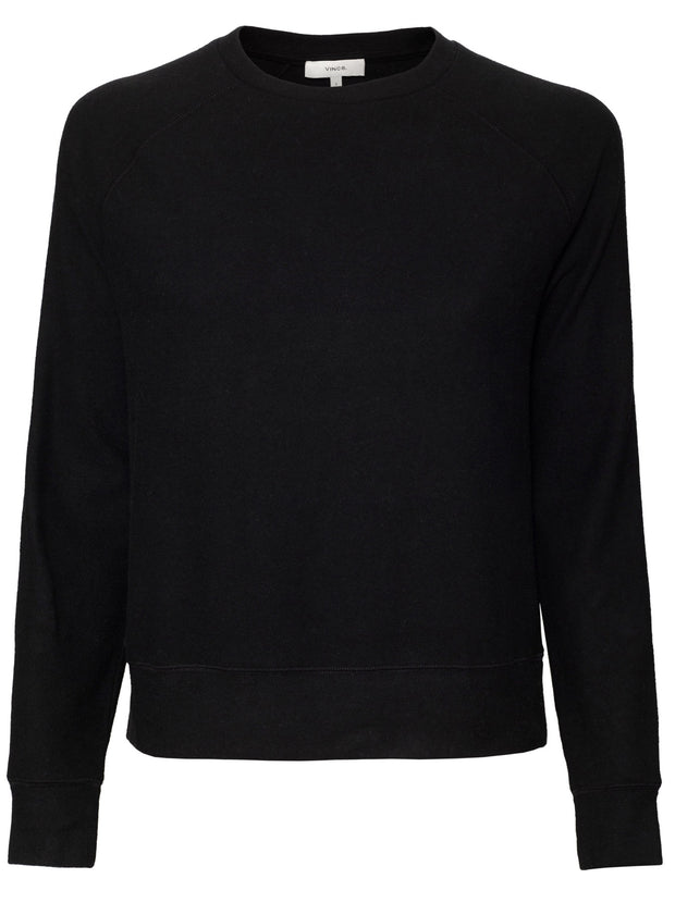 Long Sleeve Raglan Pullover - Black