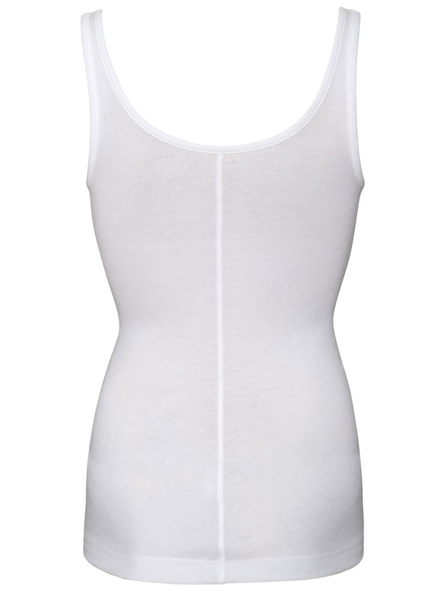 Scoop Neck Tank - White