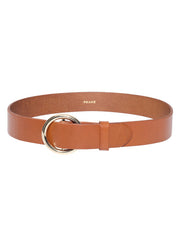 Le Circle Leather Belt - Tan