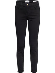 Le Color Crop Mid-Rise Skinny - Black