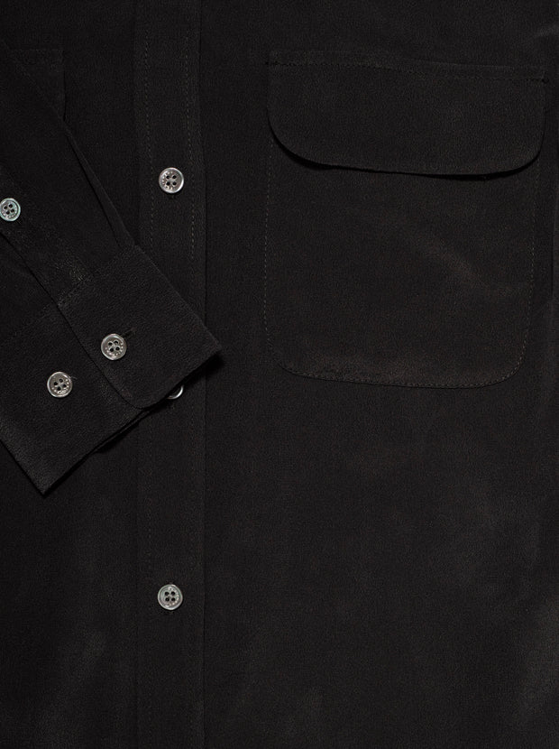 Slim Signature Silk Shirt - True Black