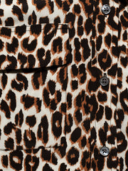 Slim Signature Silk Shirt - Leopard Natural