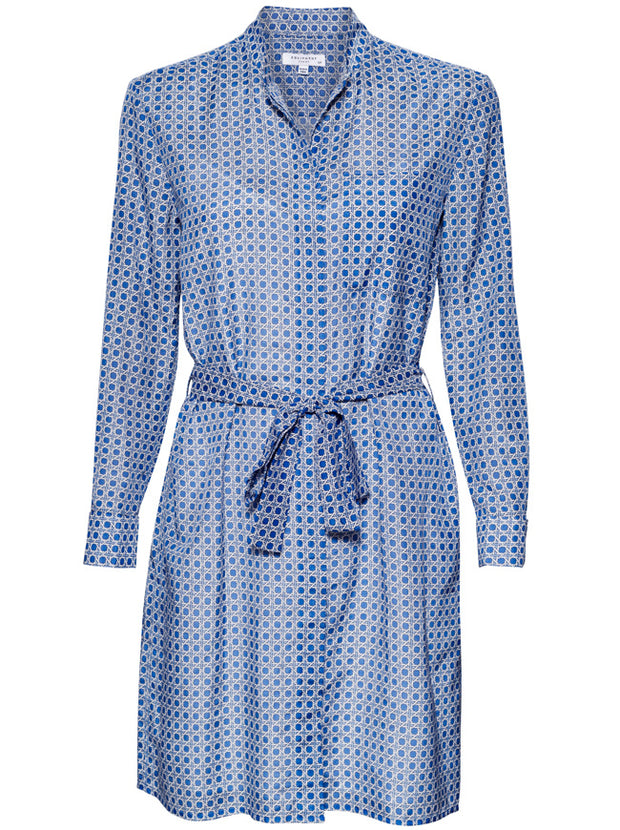 Ravena Silk-Blend Dress - Blue