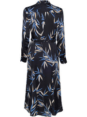 Sabenne Leaf Print Dress - Black / Multi