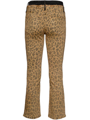 Le Crop High-Rise Mini Boot Jean - Cheetah Cargo/Multi