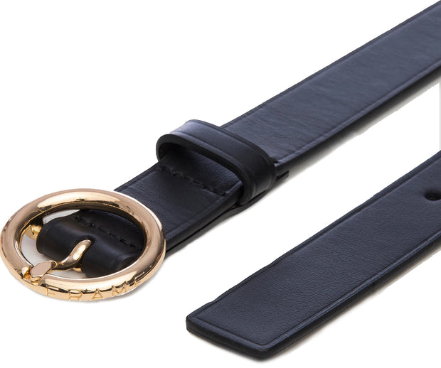 Double Wrap Leather Belt - Noir