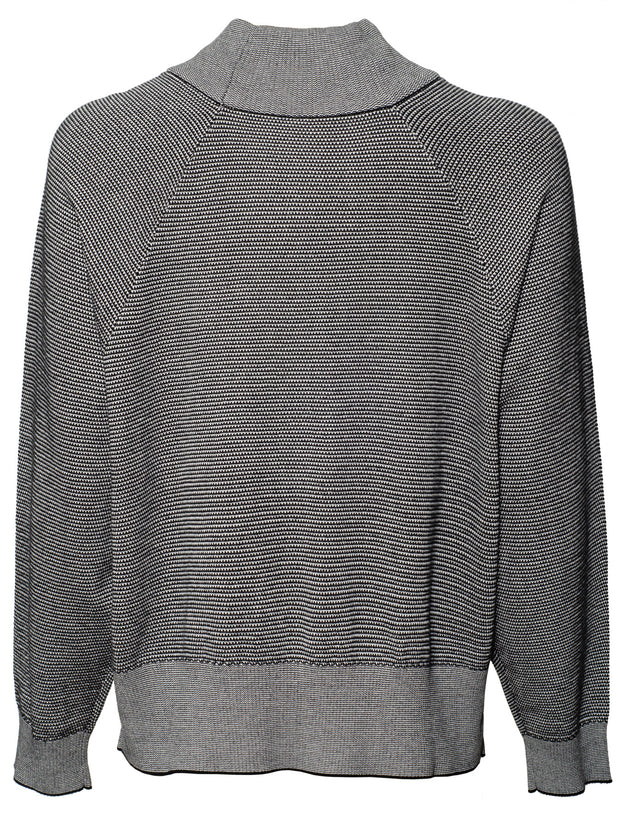 Maceo Cotton Knit Sweatshirt - Black