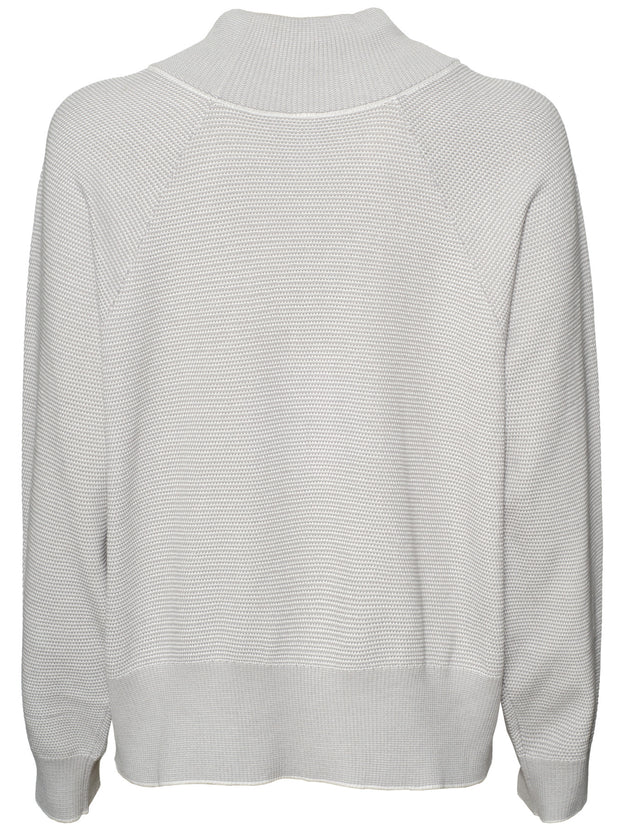 Maceo Cotton Knit Sweatshirt - Grey