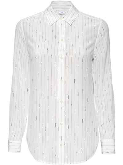 Essential Mini Star Striped Shirt - Bright White / Navy
