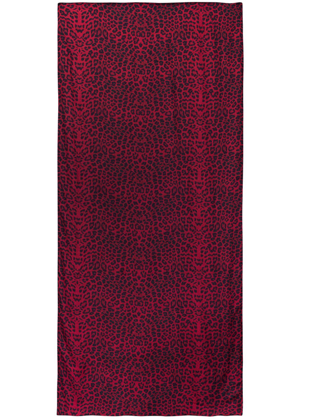 Safari Modal and Cashmere Blend Scarf - Burgundy