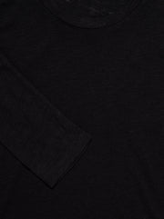 Jacksonville Cotton-blend L/S Tee - Black