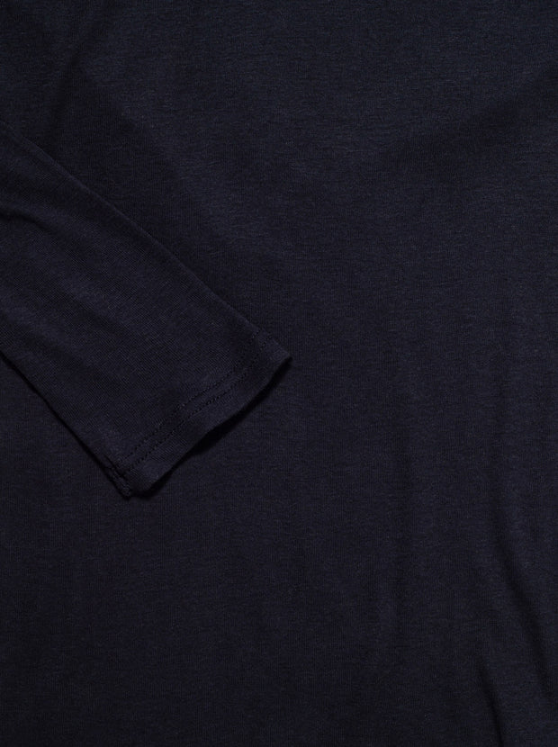 Massachusetts Supima L/S Cotton Tee - Navy