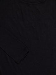 Massachusetts Supima L/S Cotton Tee - Black