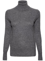 Delafine Cashmere Turtleneck - Heather Grey