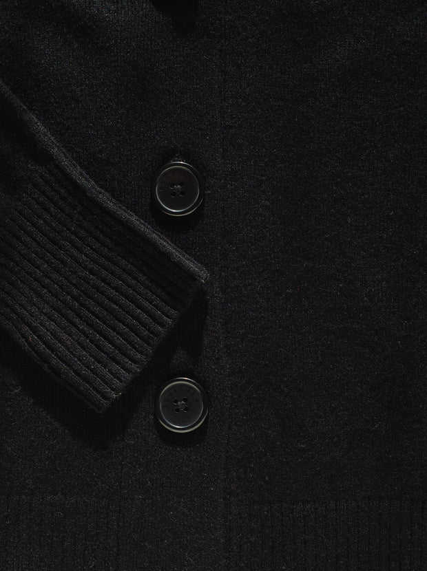 Elder Cashmere Cardigan - True Black