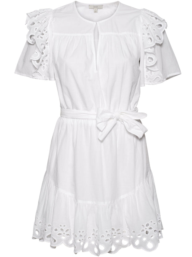 Safia Cotton Dress - White