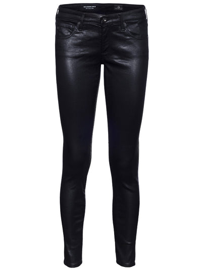 The Leatherette Legging Ankle Mid-Rise Skinny - Black