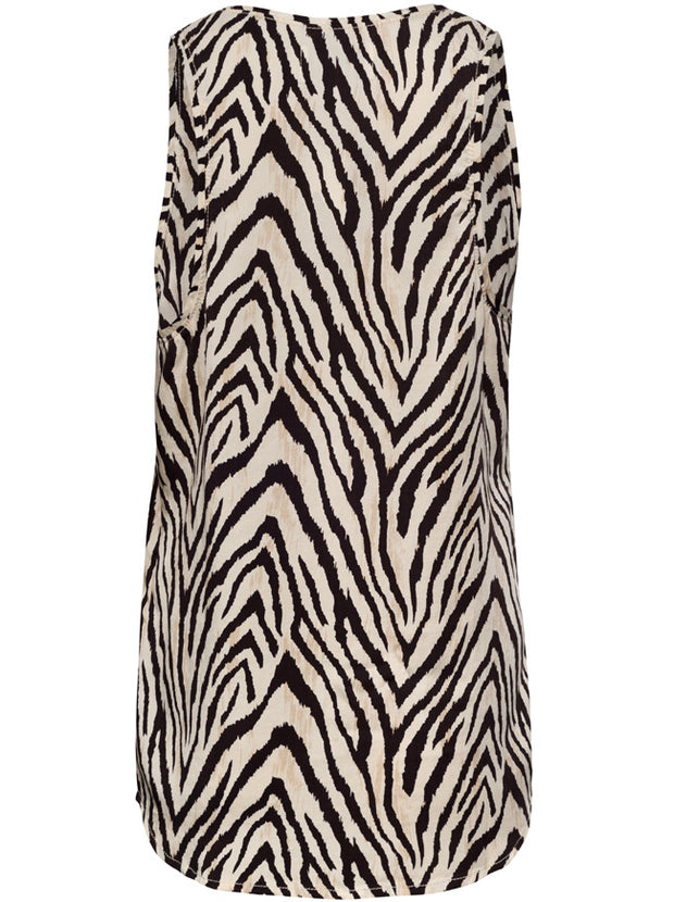 Bermuda Tencel Tank - Natural Zebra