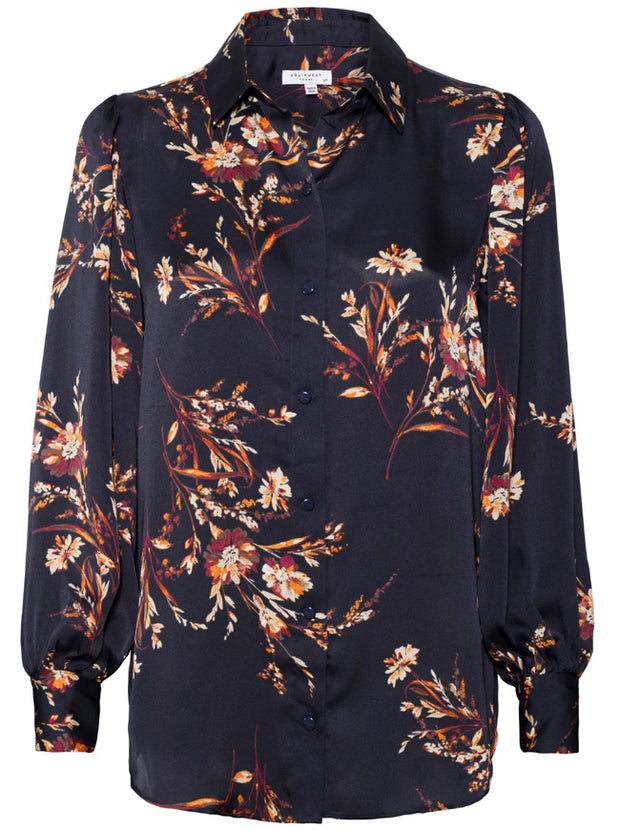 Danton Floral Blouse - Black Multi