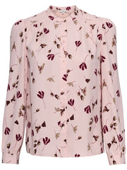 Myella Floral Print Top - Dusty Pink