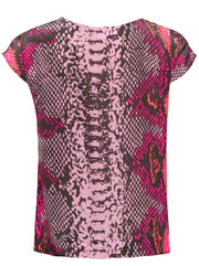 Blair Python Silk Top - Mermaid