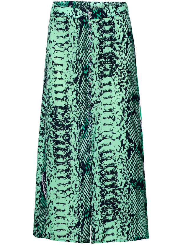 Moulton Python Print Skirt - Jungle