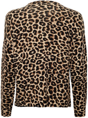The Leo Leopard Print Cashmere Sweater - Brown/Black