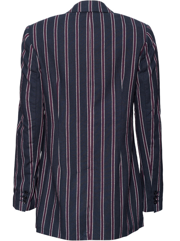 The Calla Blazer - Navy Stripe